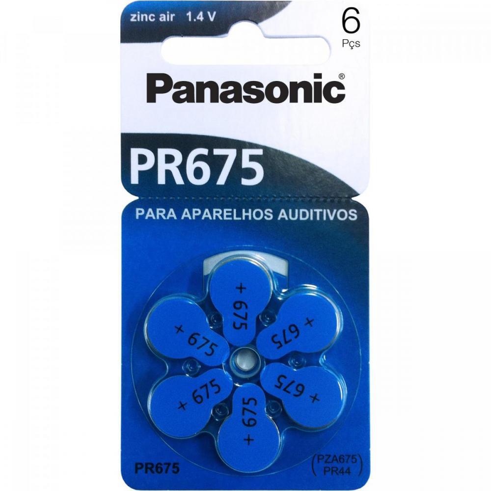 Pilha Zinco Auditiva 1,4V PR-675H Panasonic Cartela com 6 Unidades