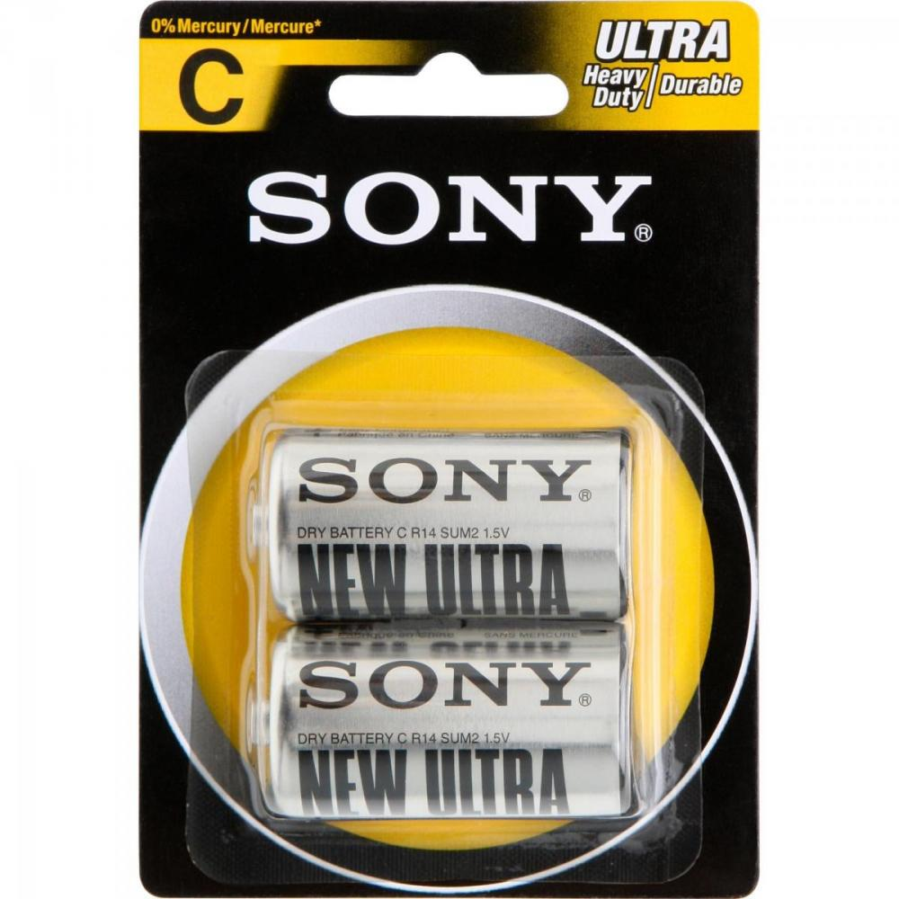 Pilha Zinco C SUM2-NUB2A  Caixa c/24 pilhas Cartela c/2 pilhas Sony