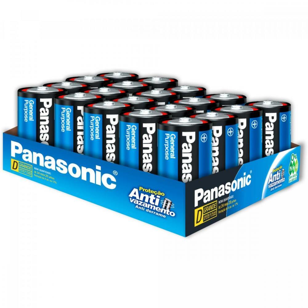 Pilha Zinco D 1,5V UM-1SH300 Panasonic Blister com 20 Unidades