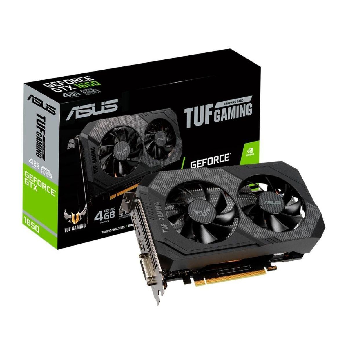 Placa de vídeo Asus GeForce GTX 1650 4gb - GDDR6 TUF Gaming