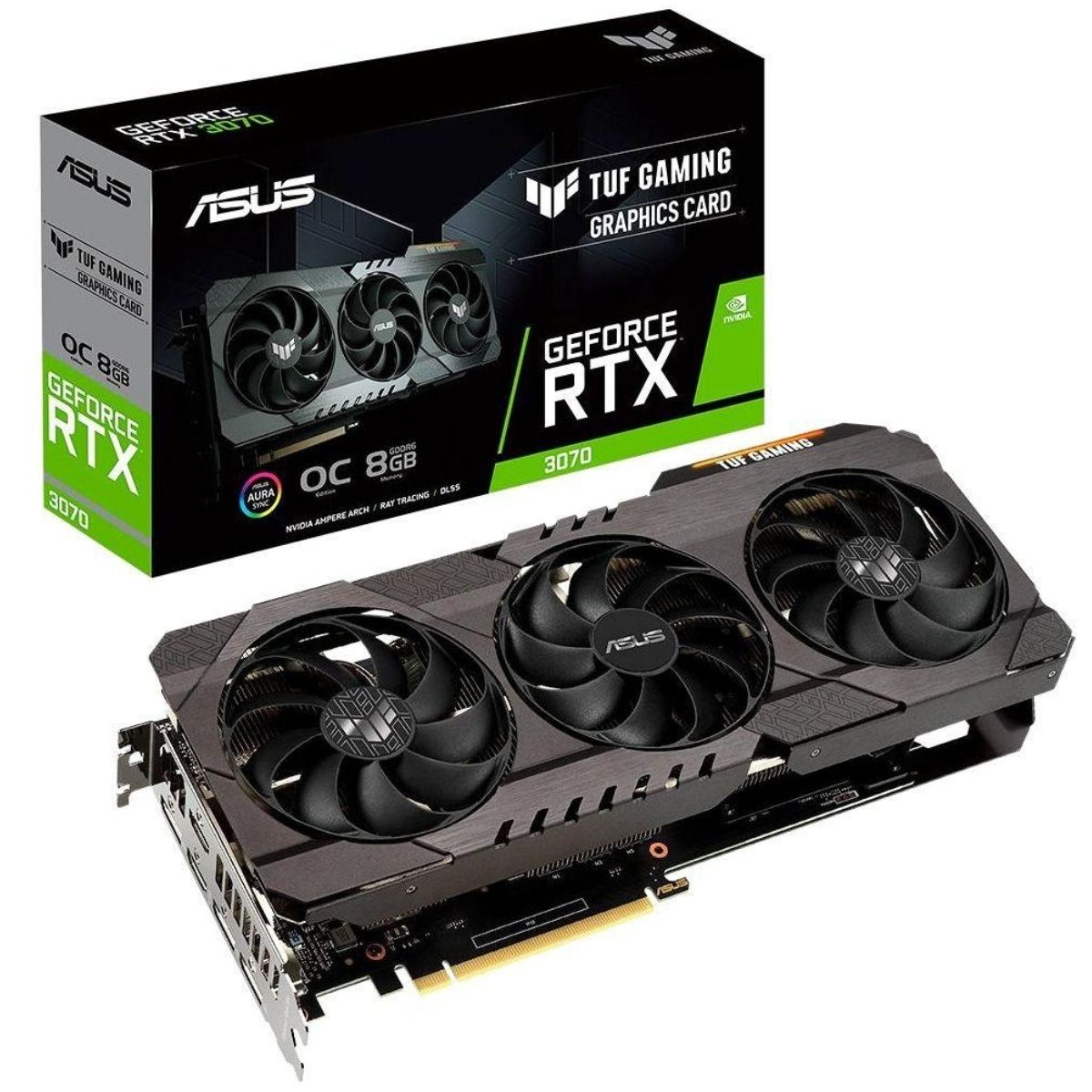 Placa de Vídeo Asus GeForce RTX 3070 8GB - GDDR6 256 bits TUF Gaming