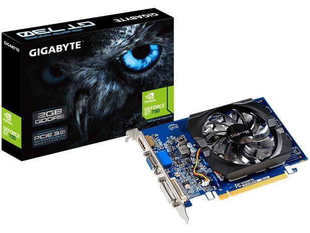 Placa de vídeo Gigabyte GeForce 730 2gb gddr5 64 bits GV-N730D5-2GI