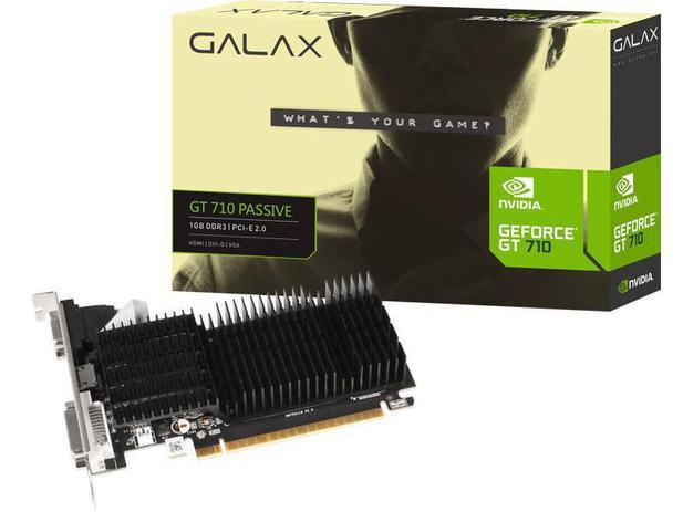 Placa de Vídeo Nvidia GeForce gt 710 1gb Ddr3 64 bits