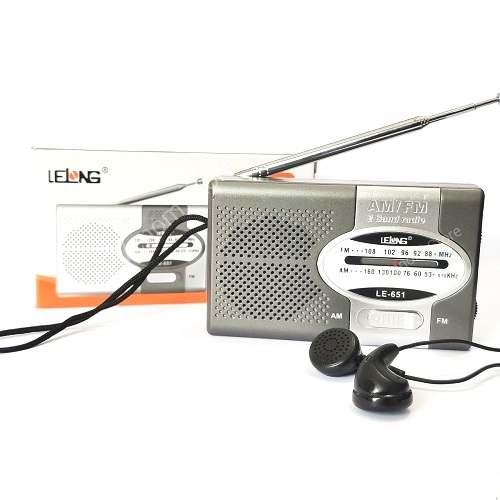 Rádio AM/FM De Bolso Portátil Analógico Com Fone De Ouvido Lelong LE-651