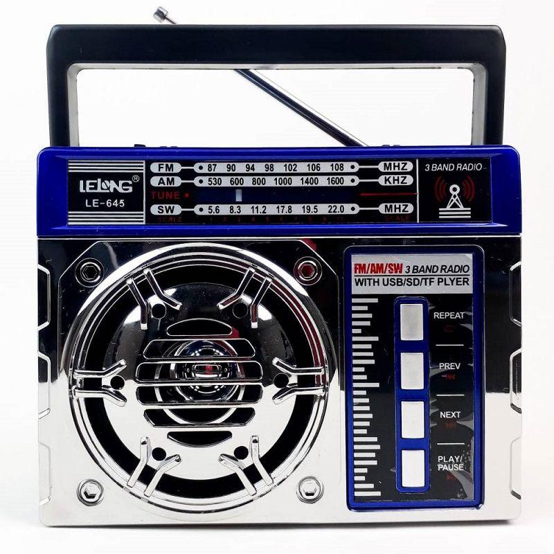 Rádio Clássico Am/Fm/Usb/Sd Lanterna Recarregável Le-645 - Lelong