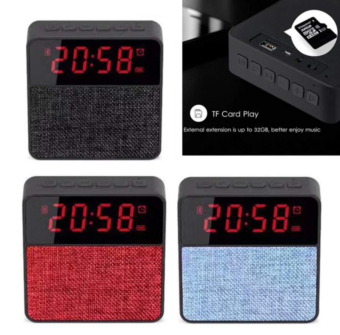 Radio Relógio Bluetooth Mp3 Player T1 Com Despertador Fm Usb Micro Usb