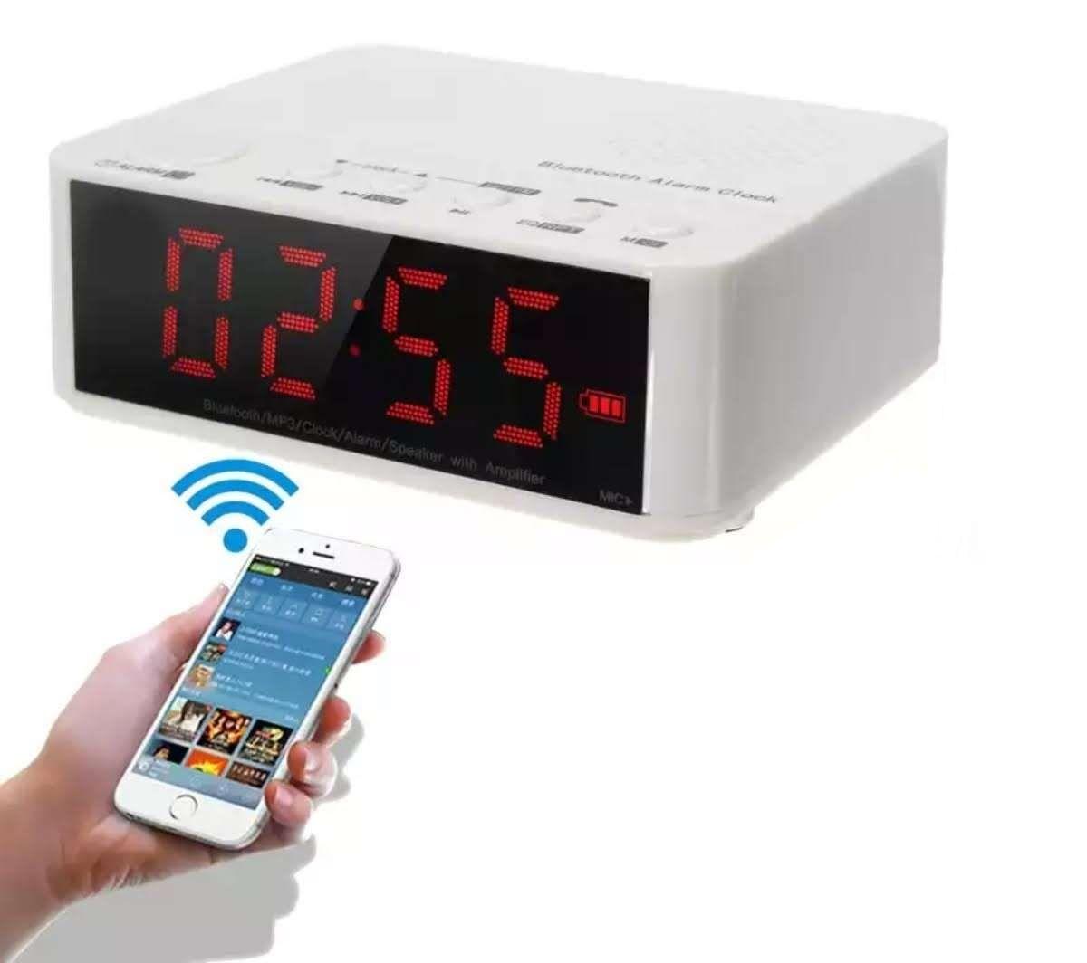 Radio Relógio Despertador Bluetooth Fm Lelong LE-674 Branco