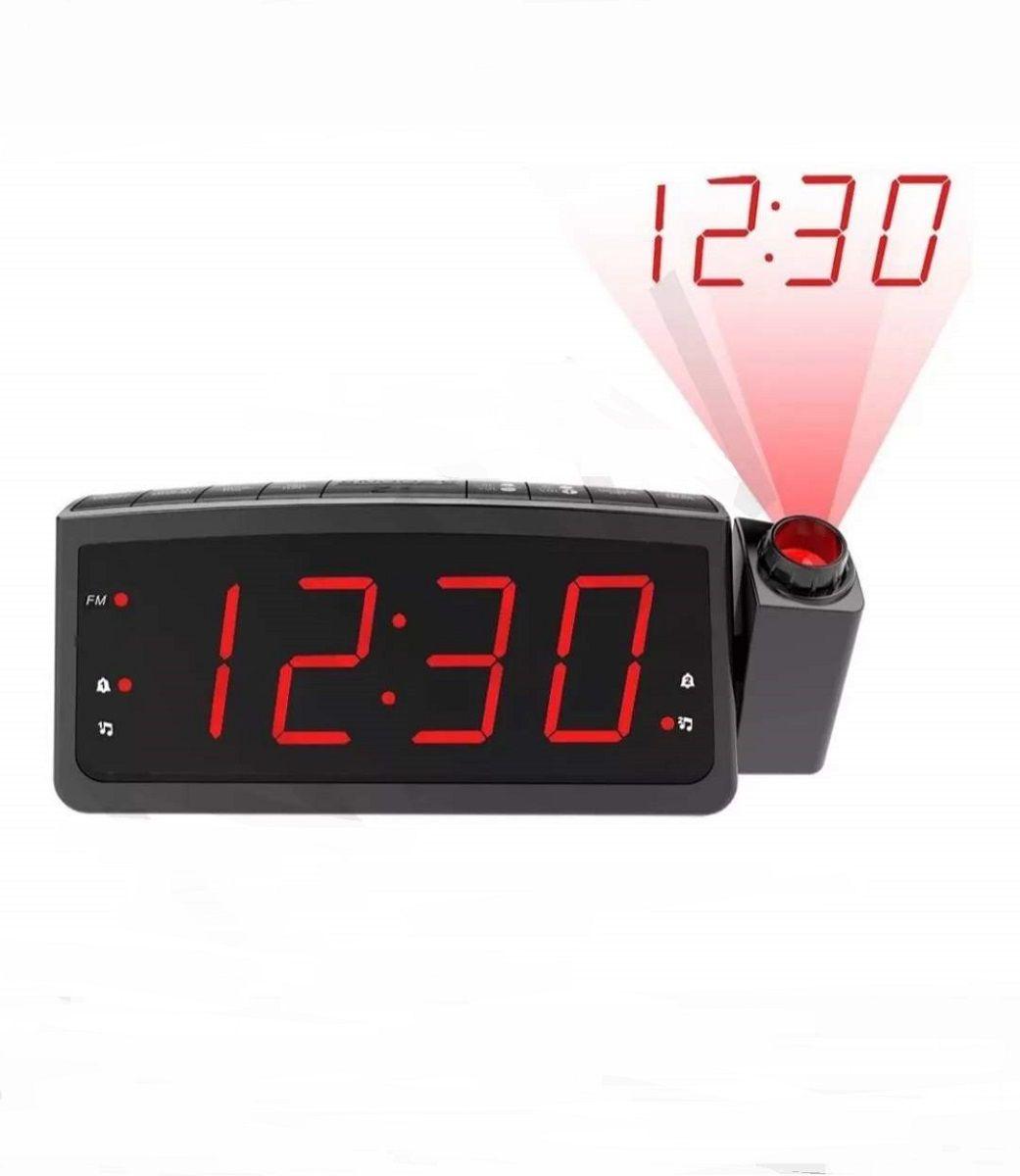 Radio Relógio Despertador Digital Lelong Le-672 Fm Usb E Projetor Hora