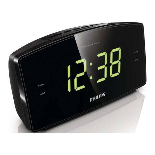 Radio Relógio Digital Despertador Fm Philips AJ 3400 Bivolt
