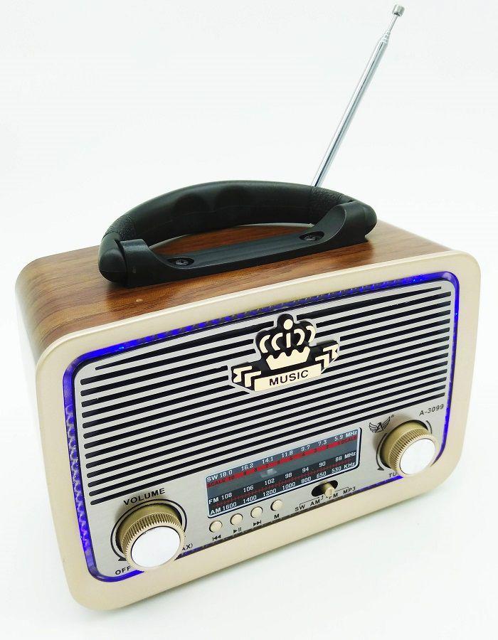 Radio Retro Am Fm Entrada Usb Cartão Sd Aux Pendrive