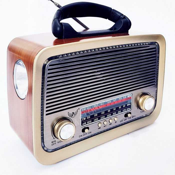 Radio Retro Clássico Bluetooth Am/Fm Usb Sd Aux Pendrive E Lanterna YS-3199BT Bivolt