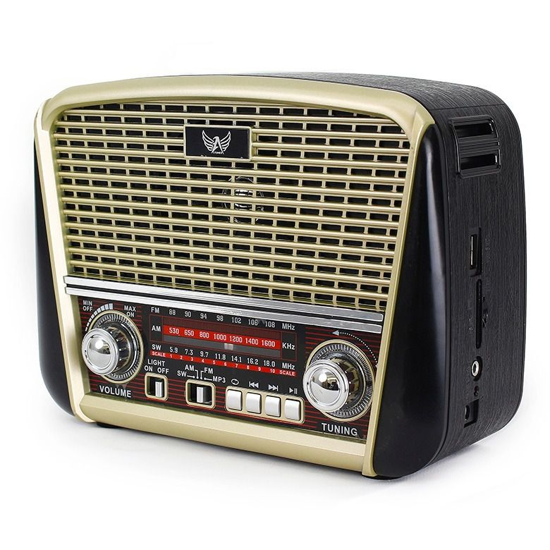 Radio Retro Portátil Clássico Am/fm/sw Entrada Usb Altomex J-107