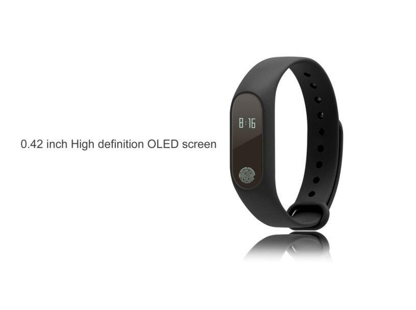 Relógio Bracelete Inteligente Medidor Frequência Conta Passo M2