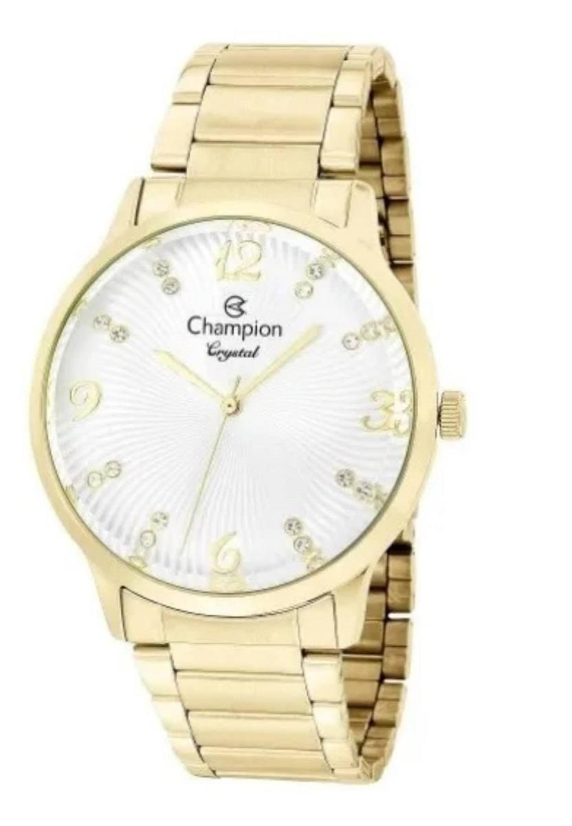Relógio Champion Crystal Feminino Dourado CN25556H