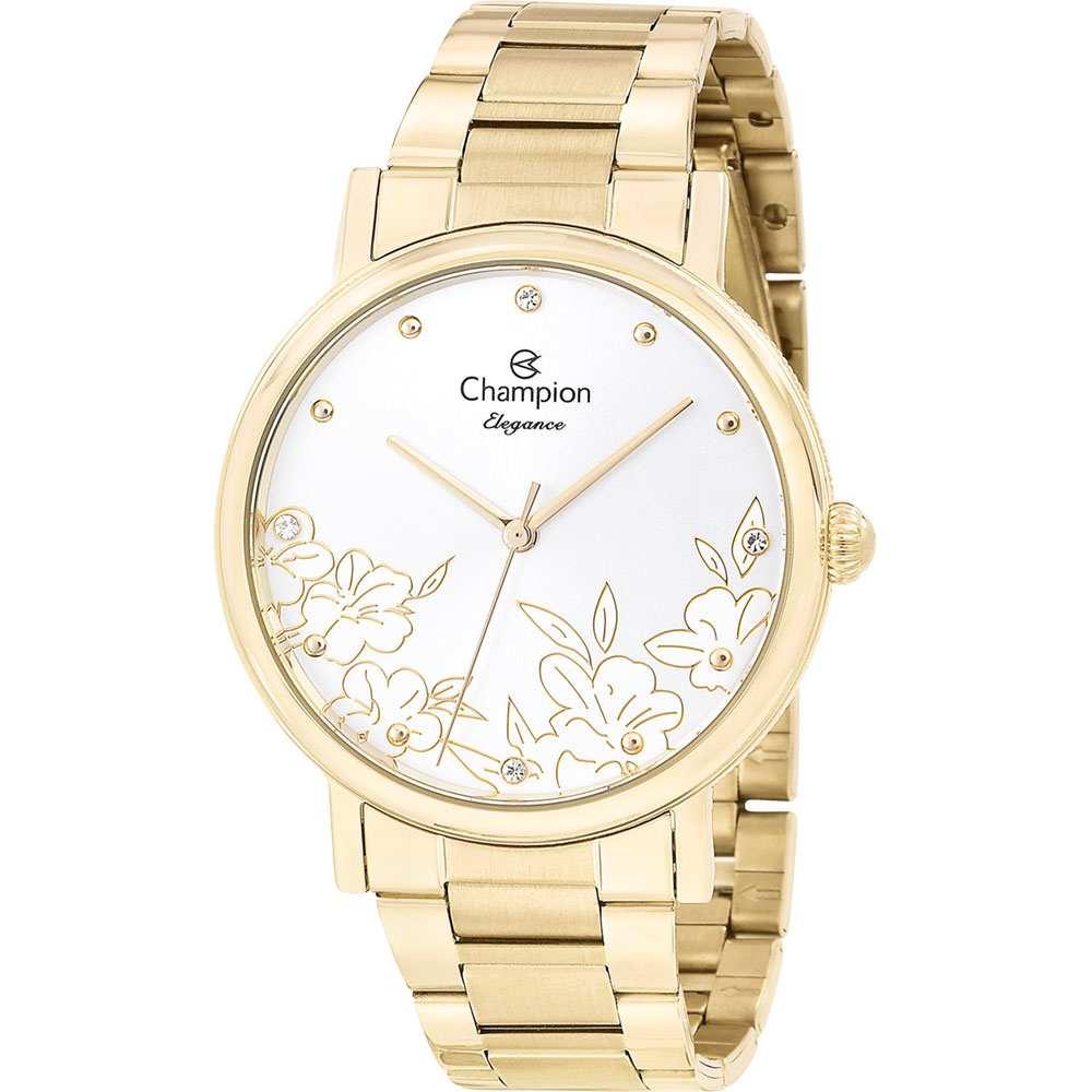 Relógio Champion De Pulso Feminino Analógico Dourado Elegance Cn25887h