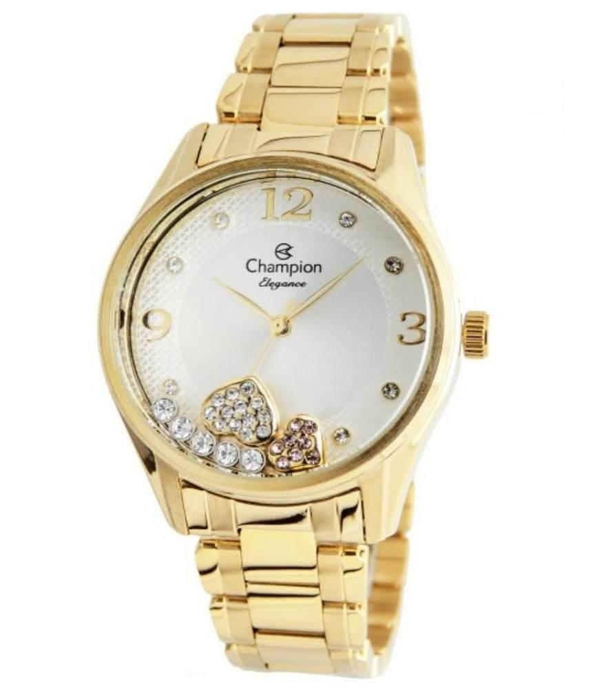 Relógio Champion Elegance Feminino Analógico Dourado CN24280H