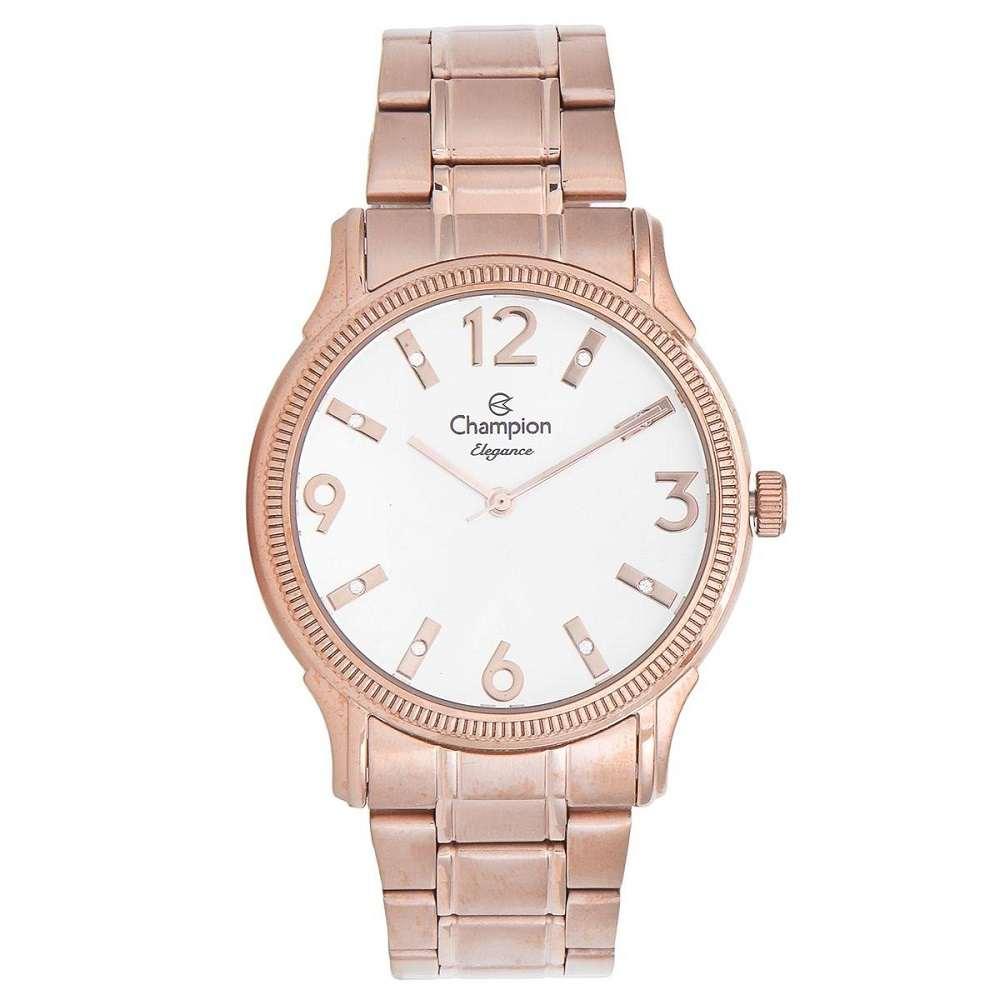 Relógio Champion Elegance Feminino Analógico Rosê CN25832Z