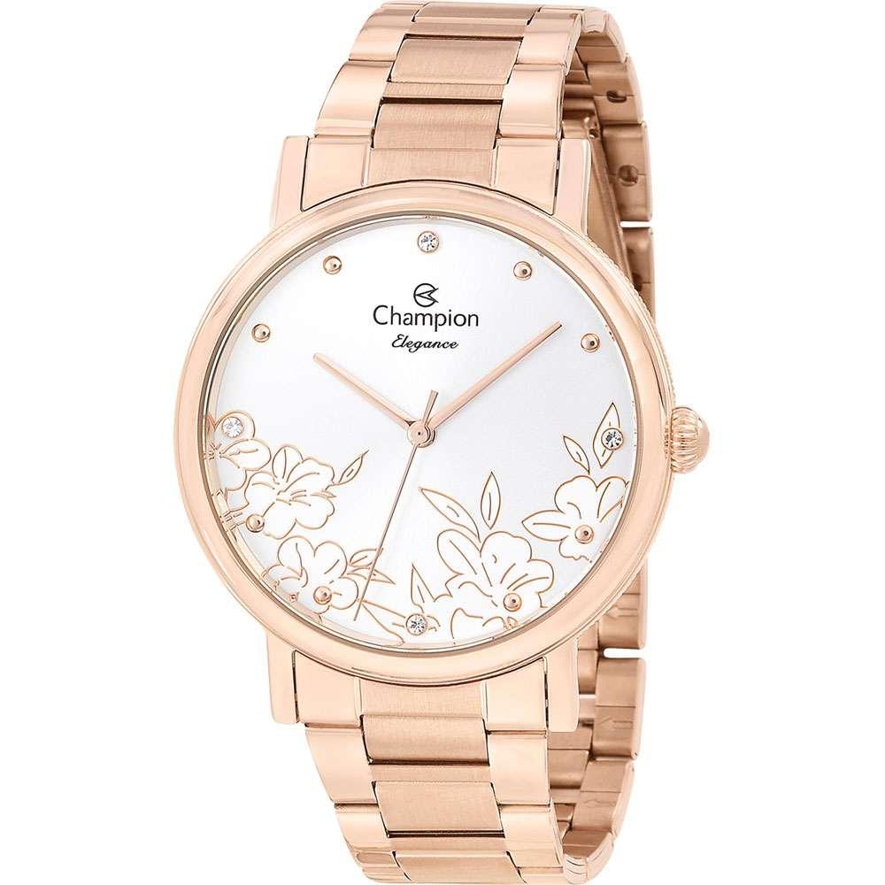 Relógio Champion Elegance Feminino Analógico Rosê CN25887Z