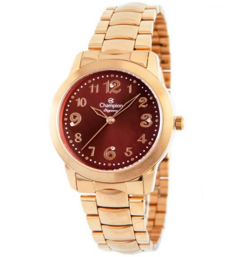 Relógio Champion Elegance Feminino Analógico Rosê CN26500I