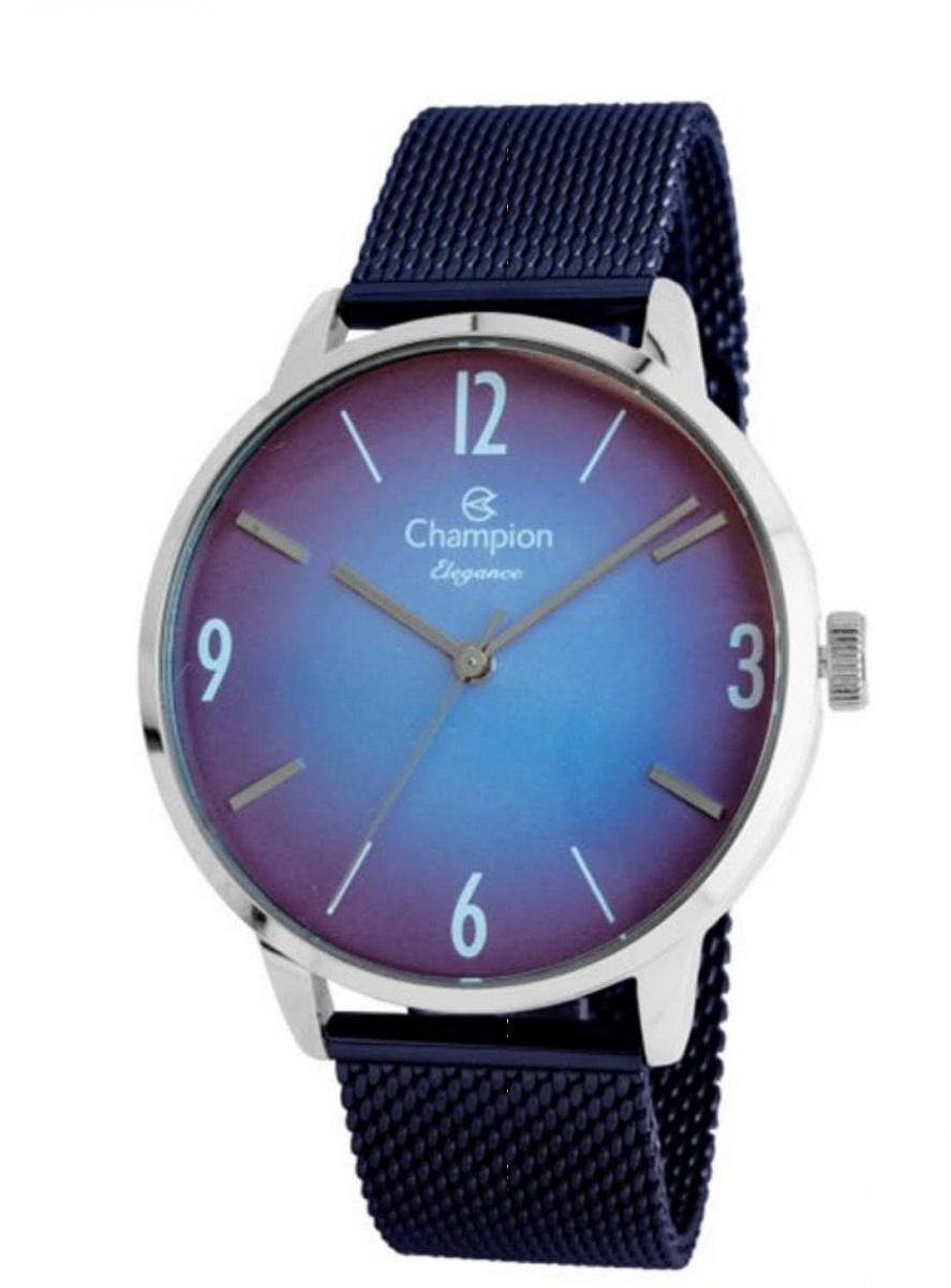 Relógio Champion Elegance Feminino Azul/Prateado CN20837F