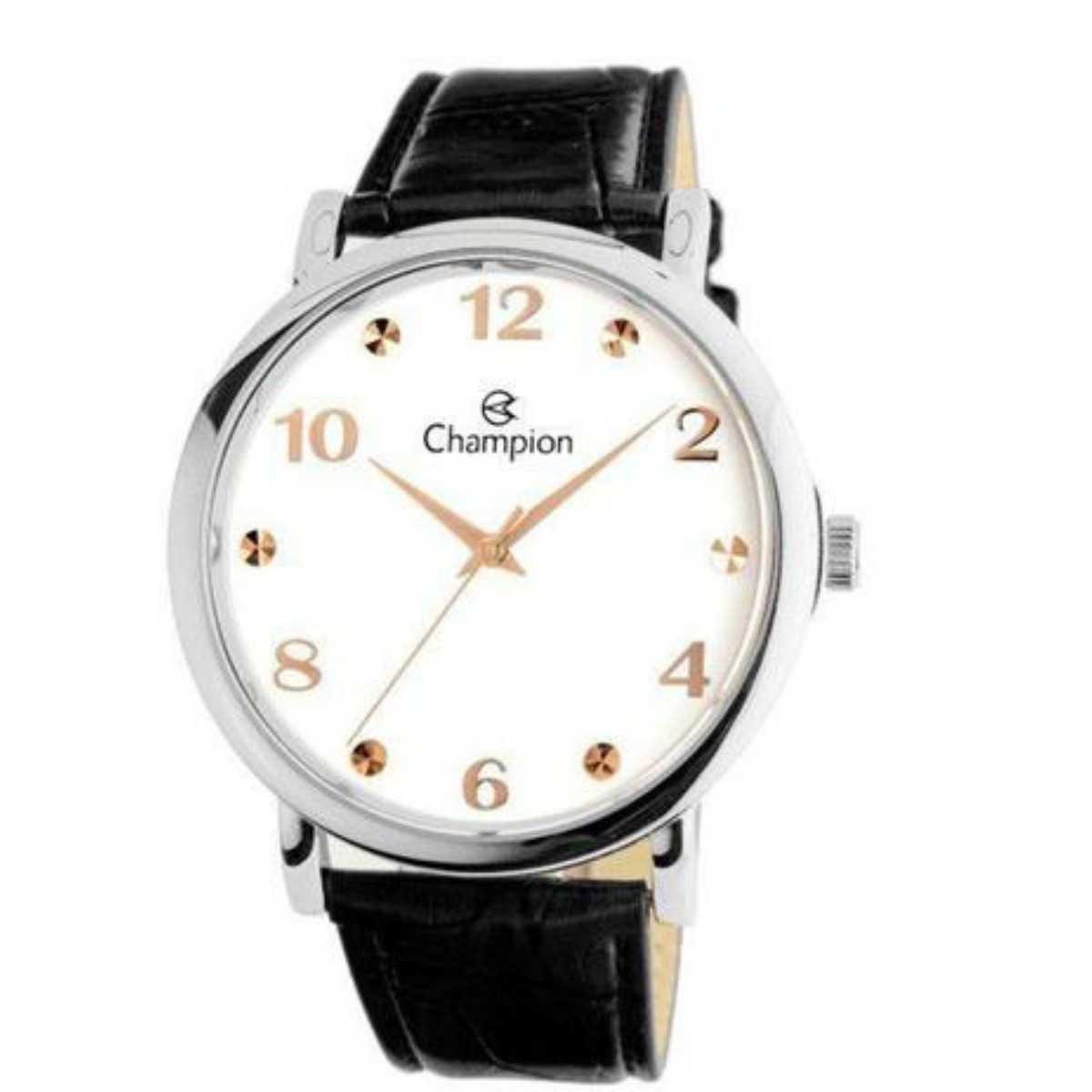 Relógio Champion Feminino Prateado/Preto CN20659Q