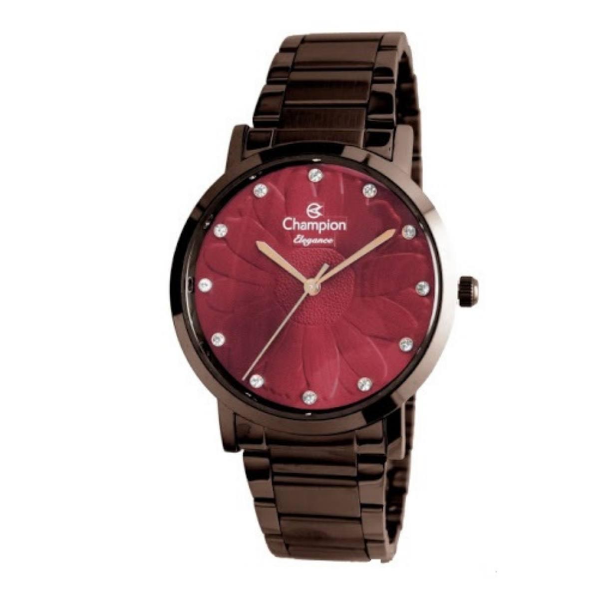 Relógio Champion Feminino Elegance Marrom CN25878V