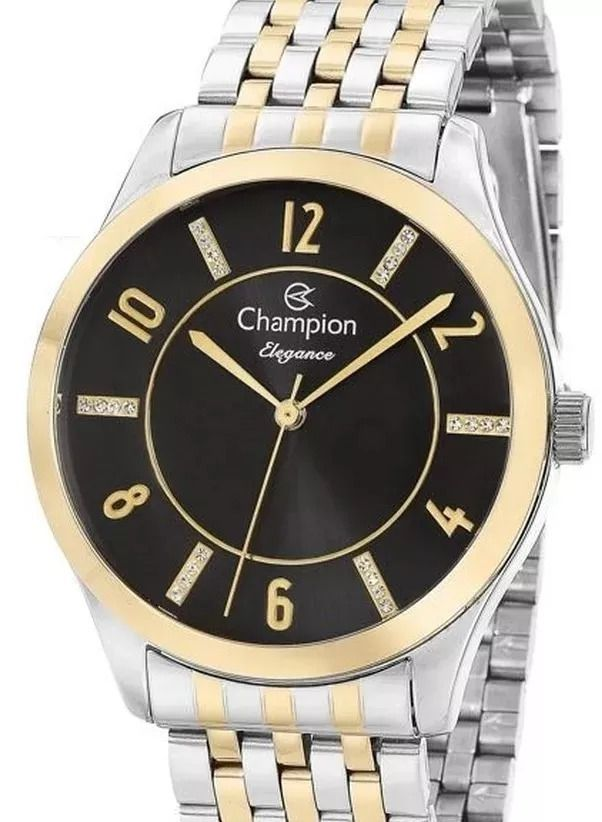 Relógio Champion Feminino Prata- Dourado Analógico Cn27698p