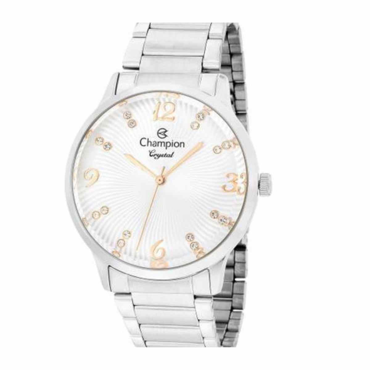 Relógio Champion Feminino Prateado CN25556Q