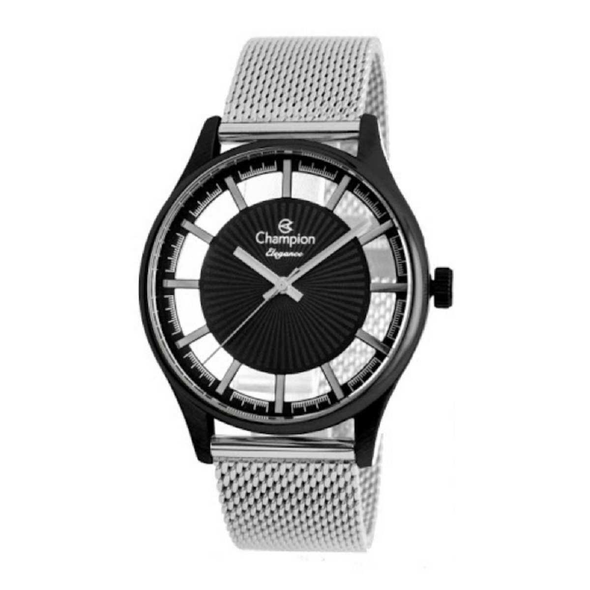 Relógio Champion Feminino Preto/Prateado CN20908N