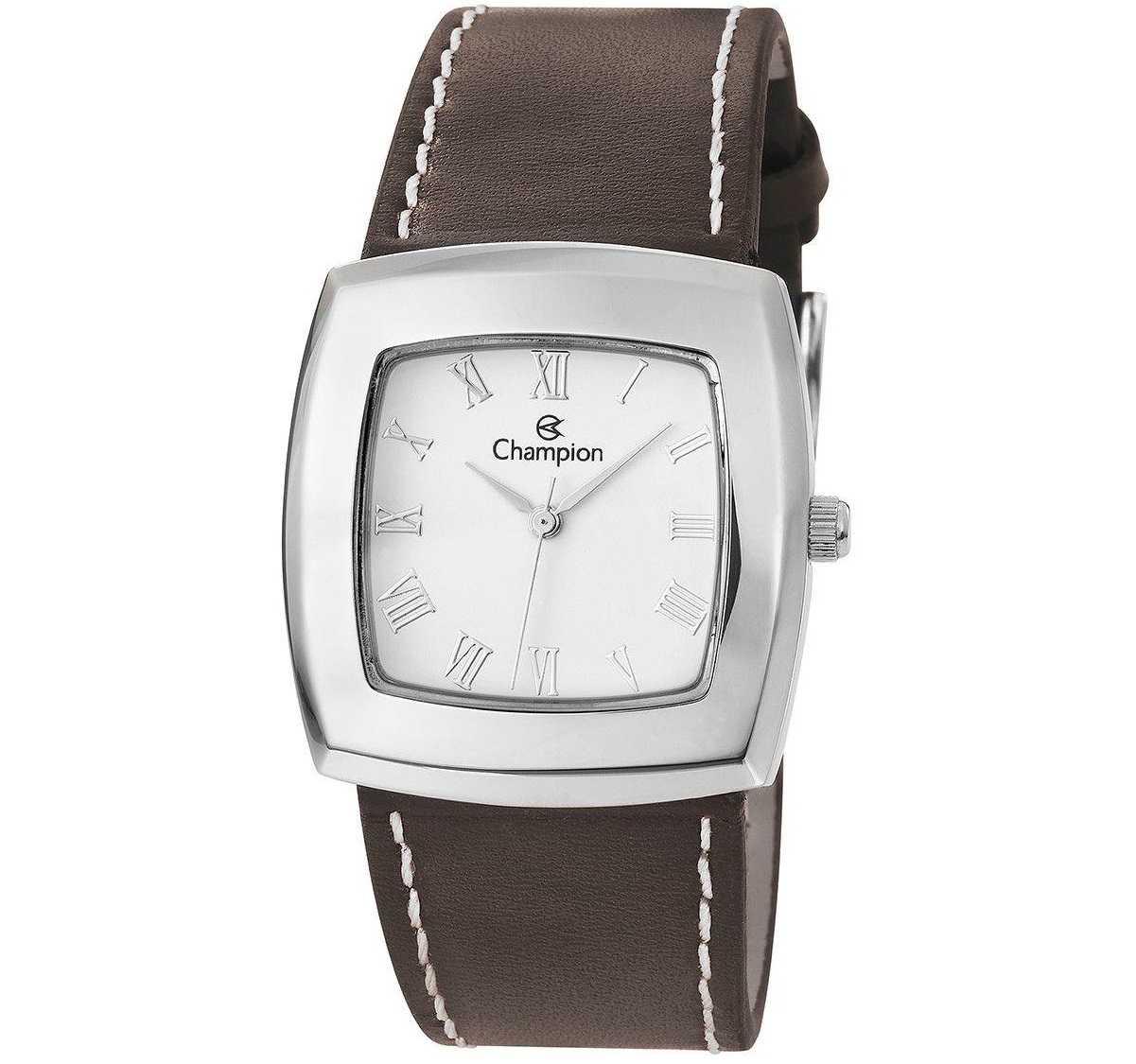 Relógio Champion Feminino Quadrado Marrom CH25650Q