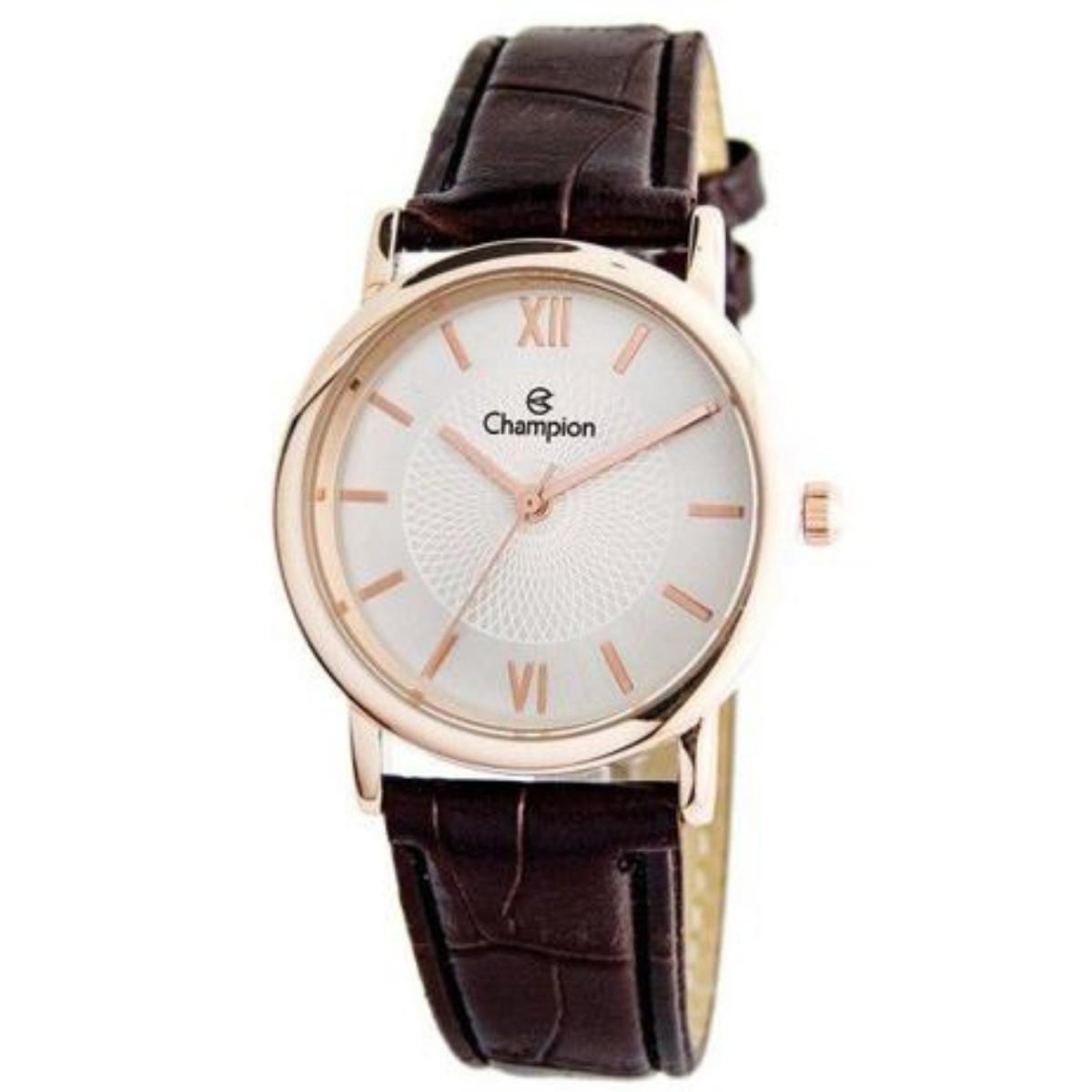 Relógio Champion Feminino Rose/Marrom CH24008Z