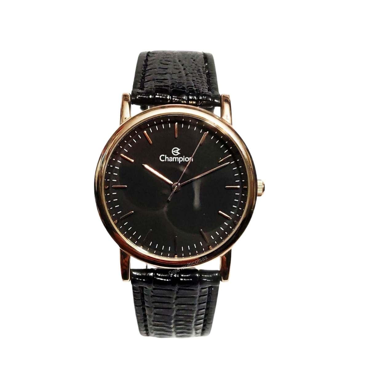 Relógio Champion Feminino Rose/Preto CH222600