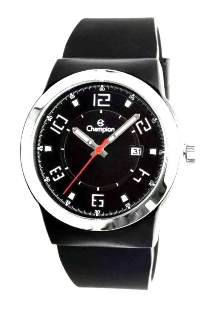 Relógio Champion Masculino Esportivo Pulseira Silicone Analógico Calendário Ca31597p