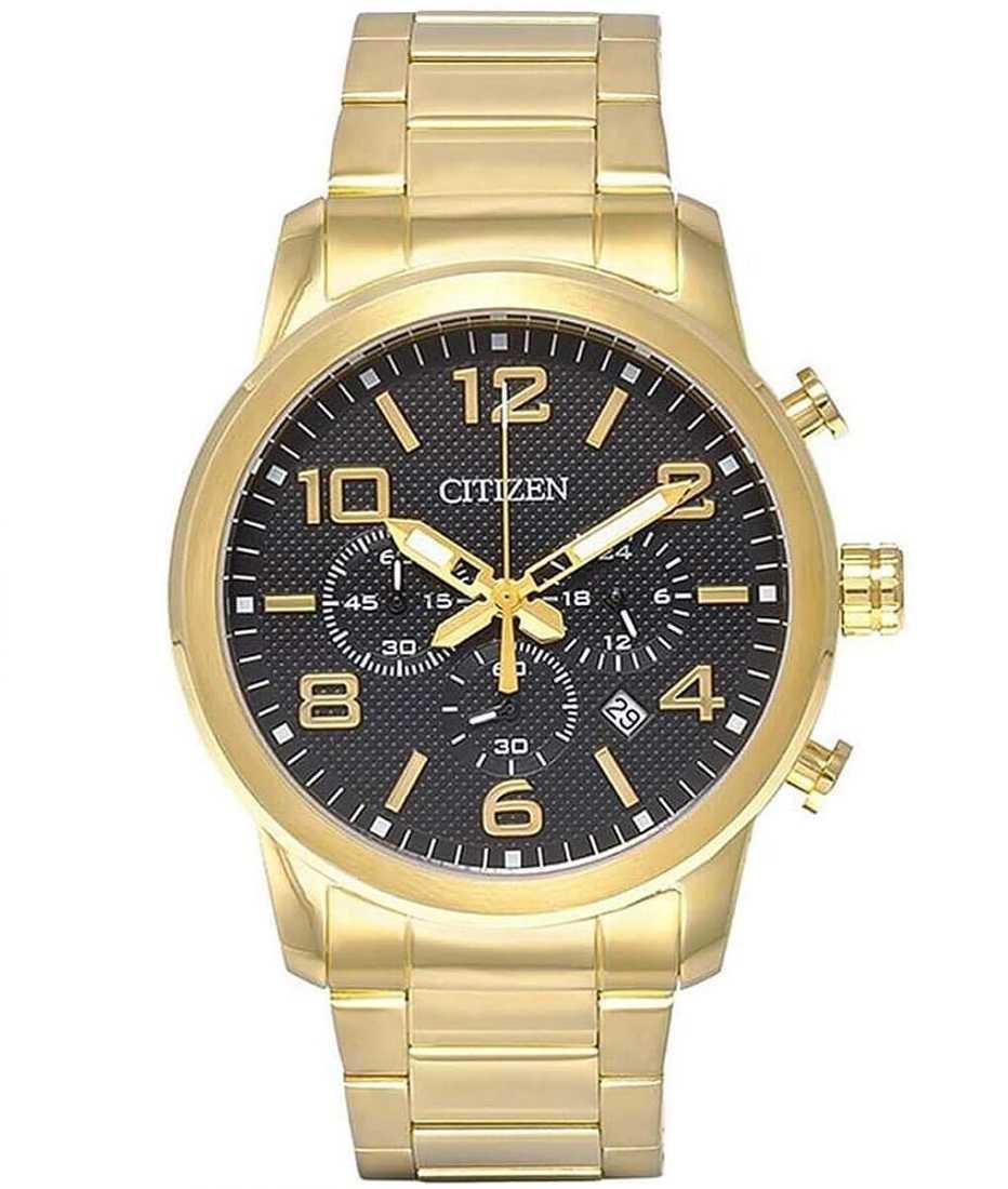 Relógio Citizen Masculino Cronógrafo Dourado TZ20297U