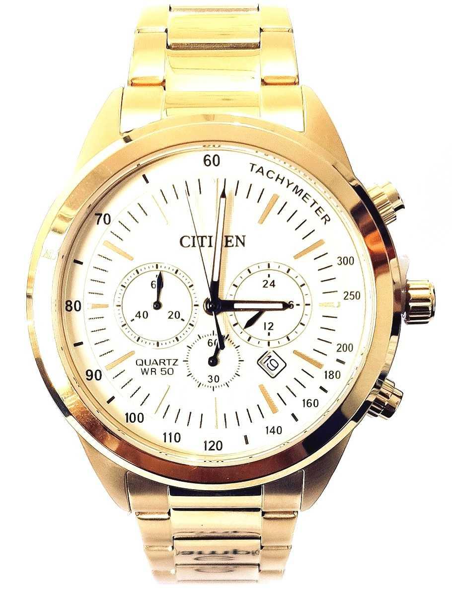 Relógio Citizen Masculino Cronógrafo Dourado TZ30973G
