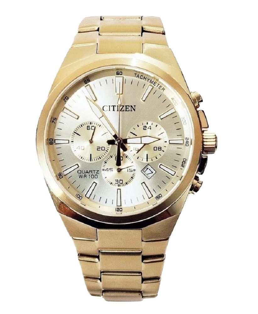 Relógio Citizen Masculino Cronógrafo Dourado TZ31105G