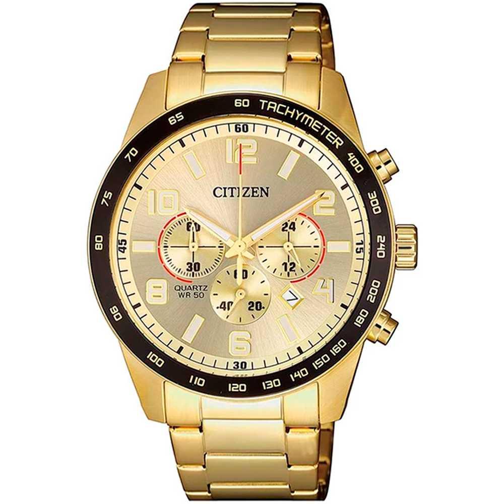 Relógio Citizen Masculino Cronógrafo Dourado TZ31454G