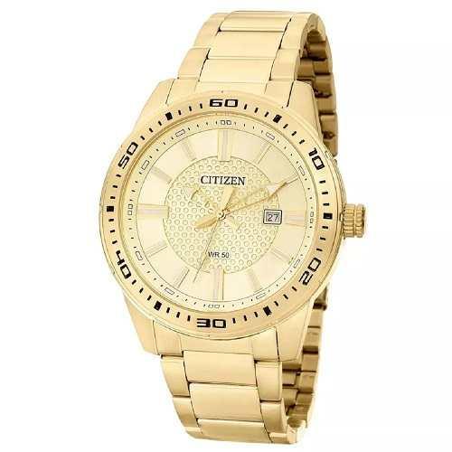 Relógio Citizen Masculino Dourado TZ20493G