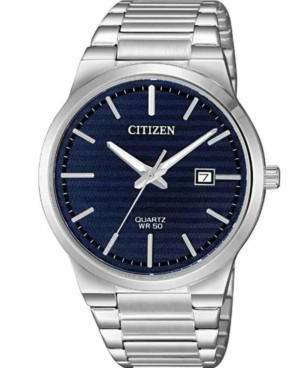 Relógio Citizen Masculino Prateado Fundo Azul TZ20831F