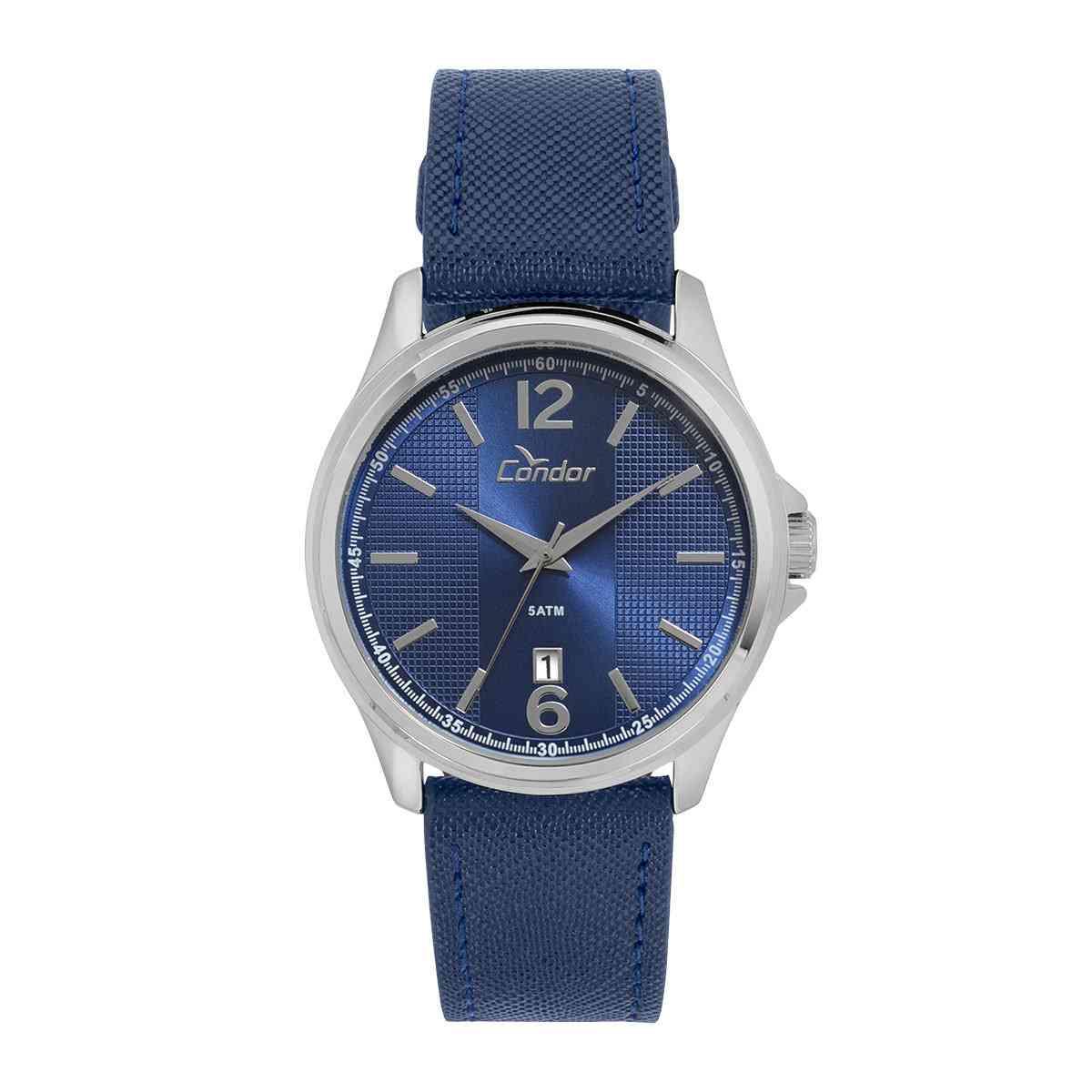 Relógio Condor Masculino Azul Calendário CO2115KTD/2A