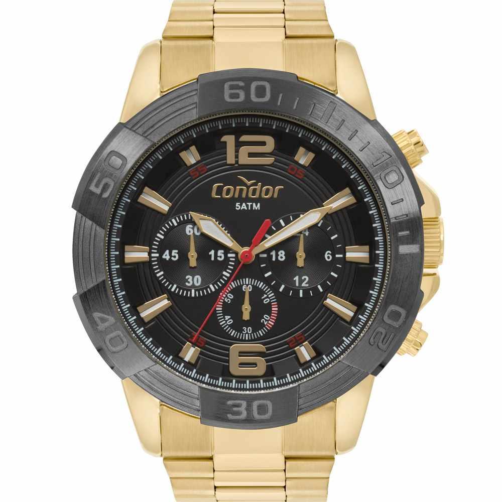 Relógio Condor Masculino Cronógrafo Dourado COVD54AY/4P