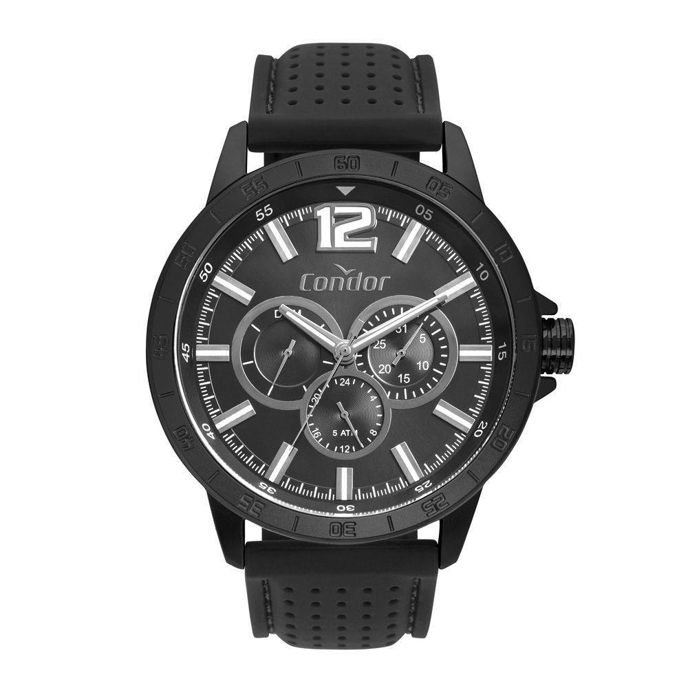 Relógio Condor Masculino Cronógrafo Pulseia Silicone CO6P29JE/4P