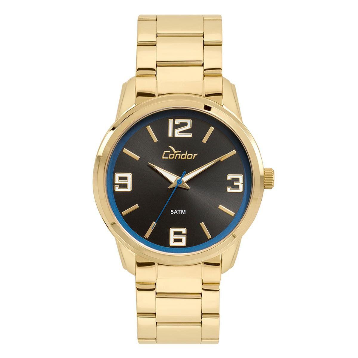 Relógio Condor Masculino Dourado Analógico CO2035KWT/4P