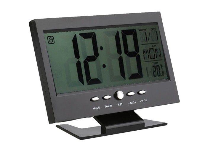 Relógio De Mesa Digital Despertador Temperatura E Data Lcd Luz Lelong Le-8107