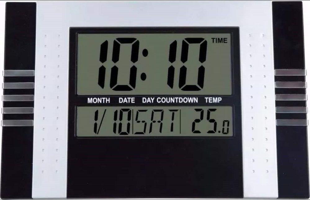 Relógio De Parede Digital Com Temperatura Data E Despertador Kenko KK-5850