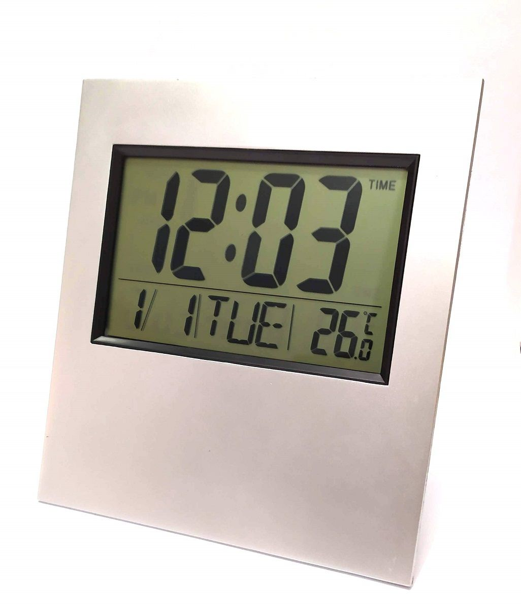 Relógio De Parede Mesa Digital Temperatura Data E Despertador Kenko KK-2803