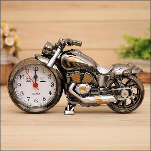 Relógio Despertador De Mesa Modelo Moto Para Decoração