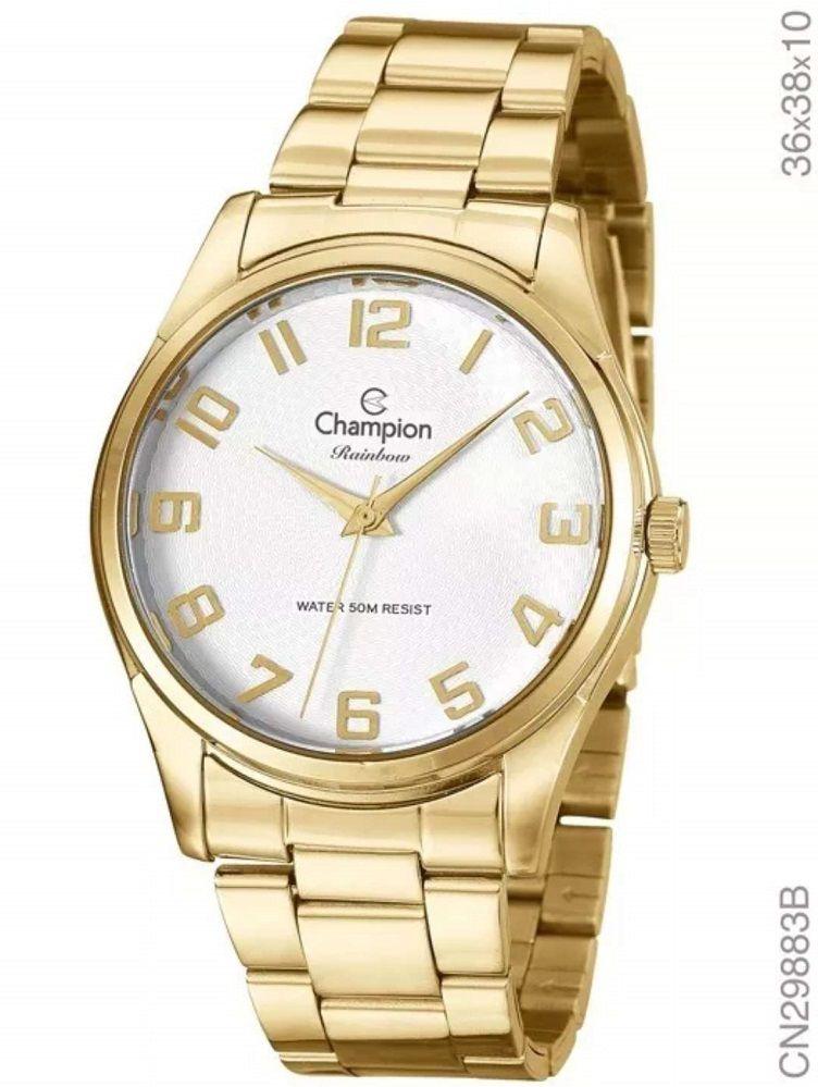 Relógio Feminino Analógico Dourado Champion Rainbow Cn29883b