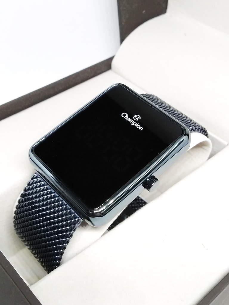Relógio Feminino Champion Digital - Azul Led Vermelho Ch40080f