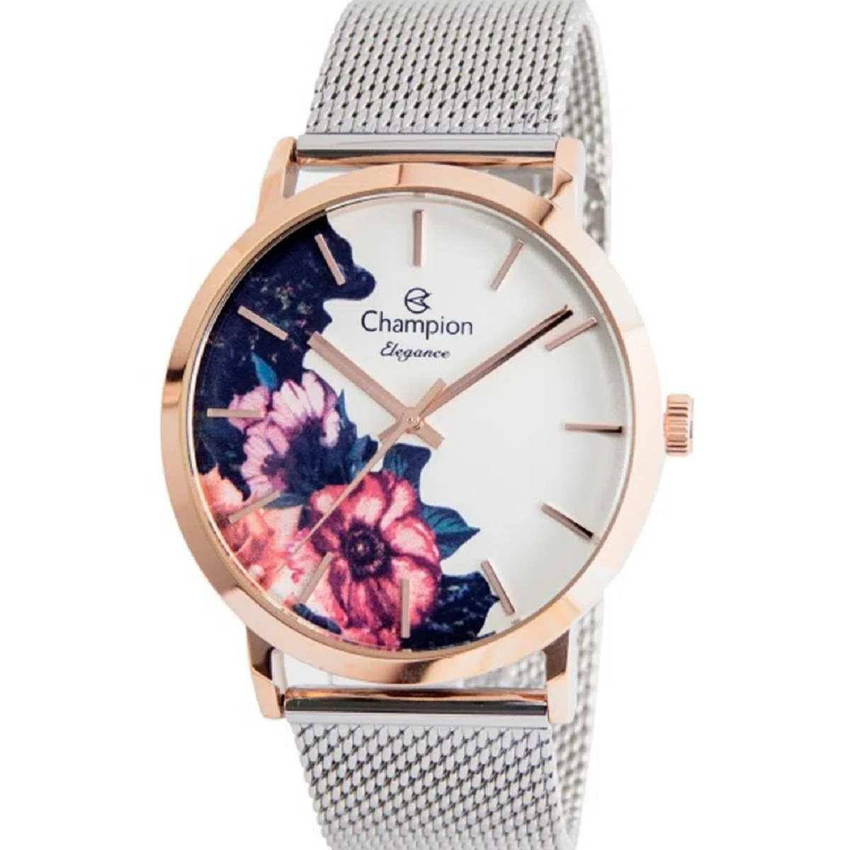 Relógio Feminino Champion Rose/Prateado CN20739Z